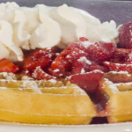 Strawberry Topped Waffle